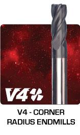 V4 - Corner Radius Endmills