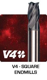 V4 Square Endmills