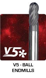 V5 Ball Endmills