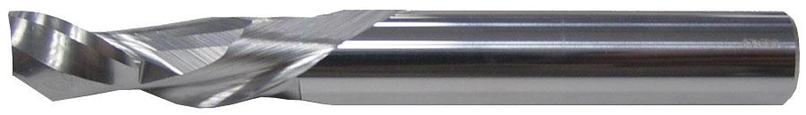 1 Flute Compression Spiral Endmill End