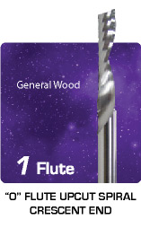 1 Flute O Flute Upcut Sprial for General Wood