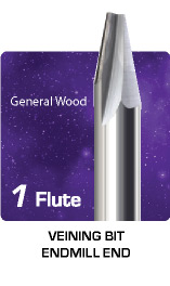 1 Flute Veining Bit