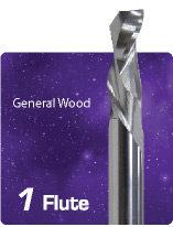1 Flute Compression Spiral for General Wood