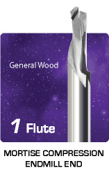 1 Flute Mortise Compression for General Wood