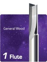 1 Flute V Flute Straight Flute for General Wood