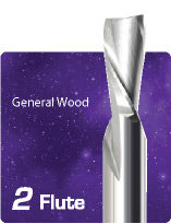 2 Flute Downcut Fishtail For General Wood