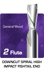 2 Flute Downcut High Impact for General Wood