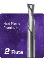 2 Flute Downcut Spiral for Hard Plastics and Aluminum