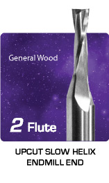 2 Flute Upcut Slow Spiral for General Wood