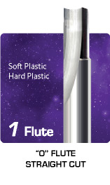 1 Flute O Flute Straight Cut for Soft and Hard Plastic