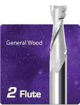 2 Flute Upcut Chipbreaker for General Wood