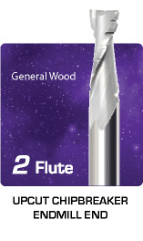 2 Flute Upcut Chipbreaker for General Wood