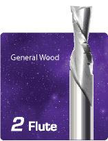 2 Flute Downcut Chipbreaker for General Wood