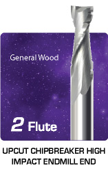 2 Flute Upcut Chipbreaker - High Impact