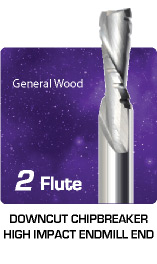 2 Flute Downcut Chipbreaker High Impact