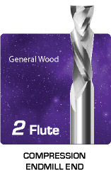 2 Flute Compression for General Wood