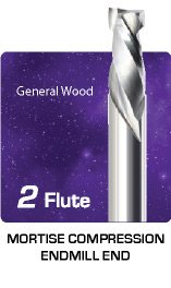 2 Flute Mortise Compression