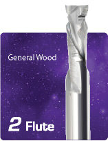 2 Flute Chipbreaker Compression for General Wood