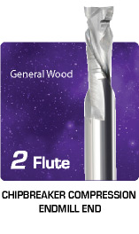 2 Flute Chipbreaker Compression for General Wood