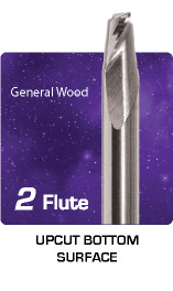 2 Flute Upcut Bottom Surface