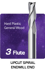 3 Flute Upcut for General Wood
