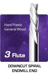 3 Flute Downcut for General Wood