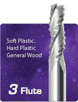 3 Flute Upcut Ripper High Helix - Soft Plastics