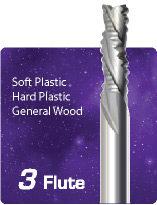 3 Flute Downcut Ripper High Helix - Soft Plastics