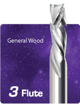 3 Flute Compression For General Wood