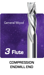 3 Flute Compression For General Wood