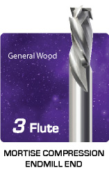 3 Flute Mortise Compression for General Wood