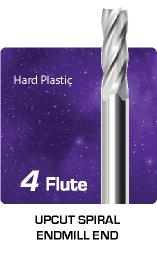 4 Flute Upcut Spiral for Hard Plastic