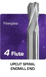 4 Flute Upcut Spiral For Fiberglass