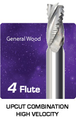 4 Flute Upcut Combination for General Wood