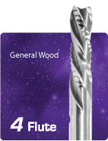4 Flute Downcut Combination for General Wood