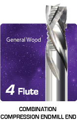 4 Flute Combination Compression For General Wood