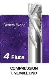 4 Flute Compression Router