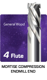 4 Flute Mortise Compression