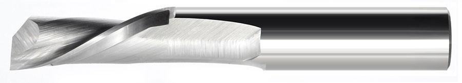 Single Flute Downcut Spiral Endmill End - General Wood