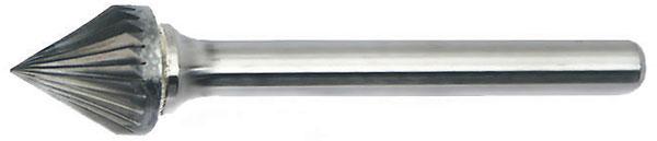 SJ - 60 Degree Included Cone Shape - Solid Carbide Burs