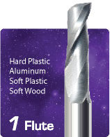1 Flute Upcut Endmill End Wood Router